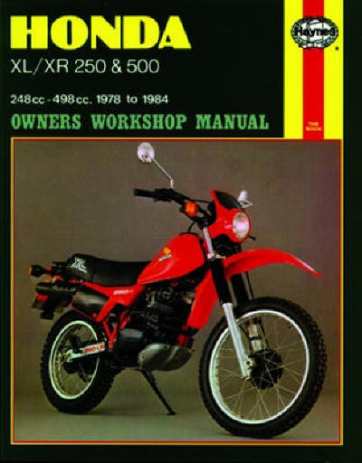 Haynes Manual Suzuki Xl